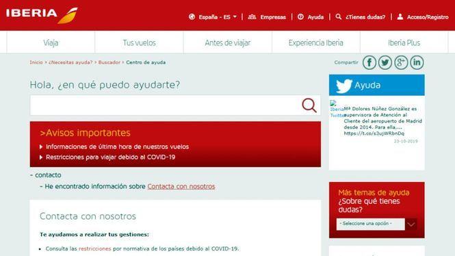 Teléfonos de contacto de Iberia