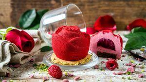 Rosa de chocolate ruby para regalar el Día de la Madre