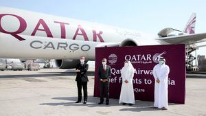 Un convoy de Qatar Airways Cargo parte hacia la India con ayuda y material médico