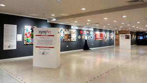 Exposición colectiva de arte interactivo en El Corte Inglés promovida por Infinity Art y la UPV