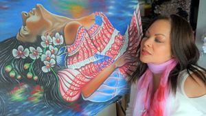La pintora Lineth Márquez presenta en Marbella la exposición Esencia panameña