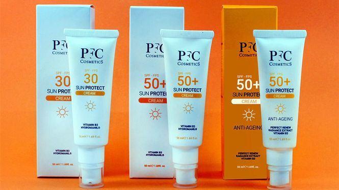 Nueva línea de cremas solares para este verano de PFC Cosmetics