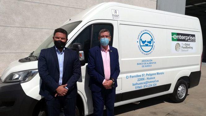 Enterprise dona nuevas furgonetas a los Bancos de Alimentos de Lleida, Salamanca y Huesca