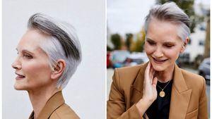 Conseguir un cabello gris bonito, frío y metalizado para este verano