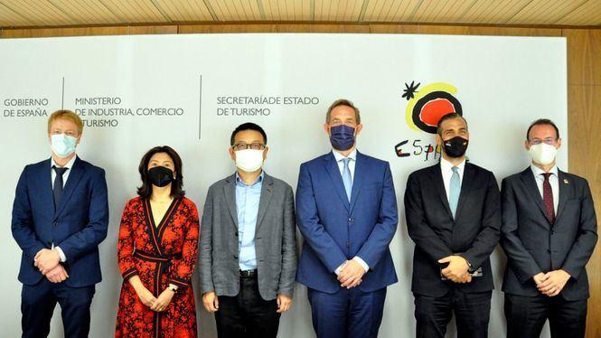Reunión con el Gobierno español y el Presidente de Ctrip para impulsar los viajes de turistas desde China