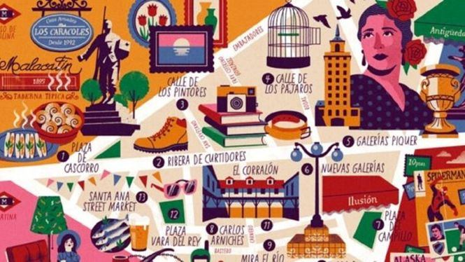 El Rastro, nuevo Mapa Cultural Ilustrado de Madrid