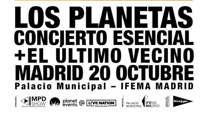Los Planetas y El último vecino actuarán en el Palacio Municipal de IFEMA MADRID