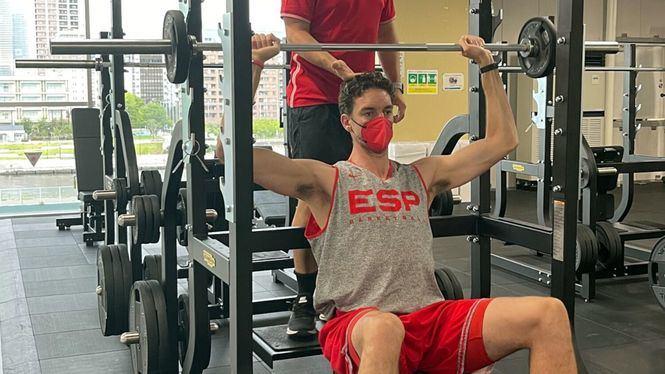 Pau Gasol entrena para sus quintos Juegos Olímpicos