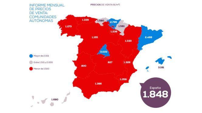 Madrid es la región que más sube el precio de la vivienda