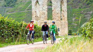 En bici siguiendo el curso del Mosela