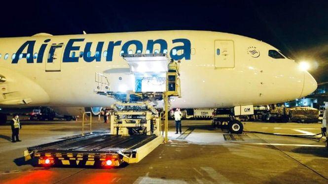 Air Europa transporta más de 25 toneladas de vacunas Covid a Colombia