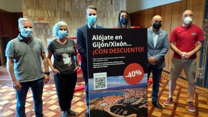 Gijón lanza una campaña promocional en alojamientos