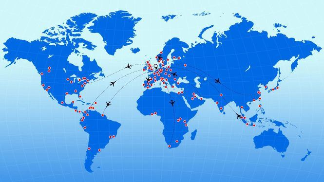 KLM presenta el mapa interactivo ¿A qué destinos puedo volar?