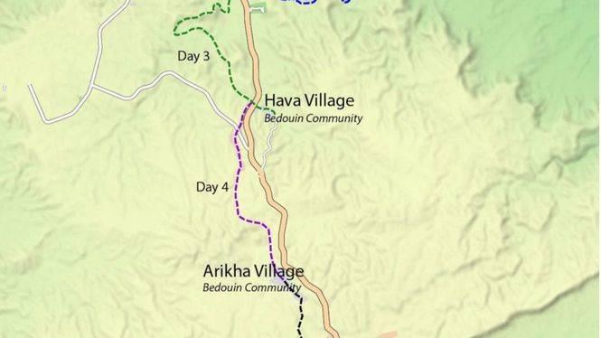 Nueva web con rutas senderistas en el desierto de Negev