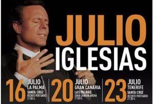 Julio Iglesias elige La Palma para inaugurar su World Tour 2016