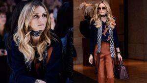 Olivia Palermo de Max&Co. durante la Semana de la Moda de Milán