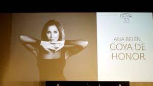 "Ana Belén, Goya de Honor 2017: ""No trabajamos para que nos den premios"""
