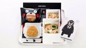 Japan Airlines ofrece su nuevo menú 'Air Kumamon' en vuelos internacionales
