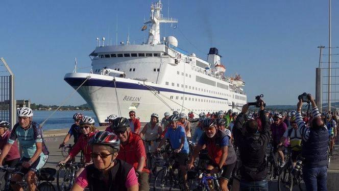 Un crucero de ciclistas alemanes llegará a Cádiz y Algeciras para hacer dos rutas por la provincia