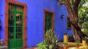 Casa Azul de Frida Kahlo. Exterior