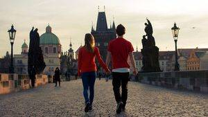 Pareja en Praga