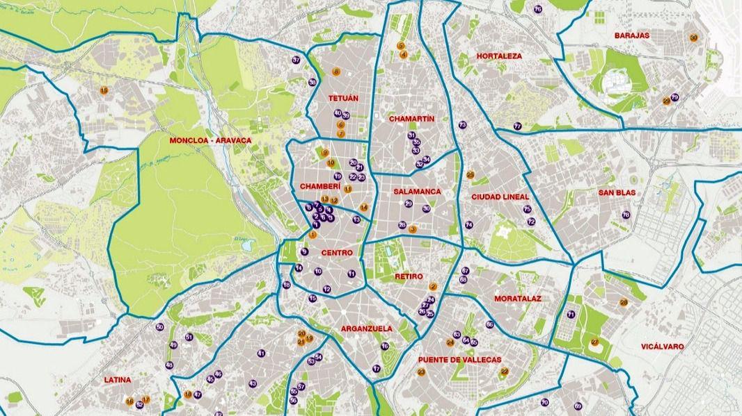 Madrid 21 distritos que nos hacen un gran destino inout for Codigos postales madrid capital