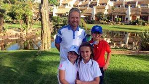 La Manga Club Golf clases, Thomas Johansson con alumnos.