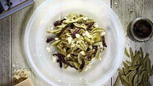 Una nueva pasta ecológica de hojas de olivo verde