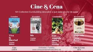Cine de autor con comida de la nacionalidad de la película en el Eurobuilding