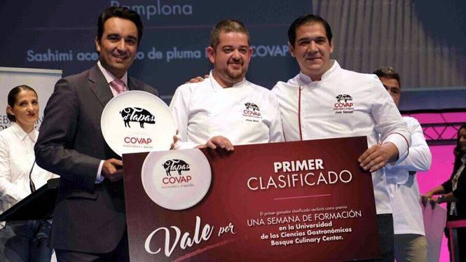 Ulises Mejías ganador del concurso D' Tapas Covap Pasión Iberica