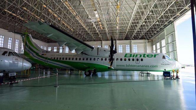 El nuevo avión ATR 72-600 de Binter incorpora los últimos