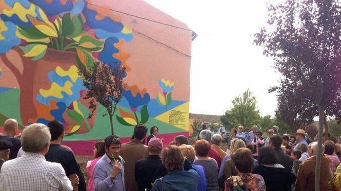 La provincia de Burgos luce el mural turístico más grande de Castilla León