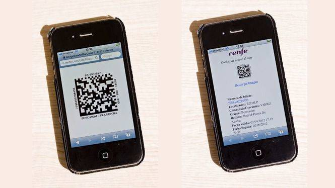 Renfe valida el billete en PDF por imagen en el móvil