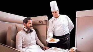 Saudia Airlines . Menú a bordo