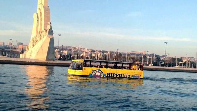 Hippo Trip, el autobús anfibio de Lisboa