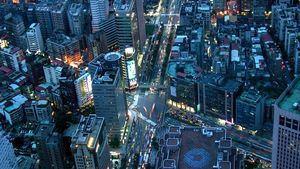 Vista de las calles de Taipei