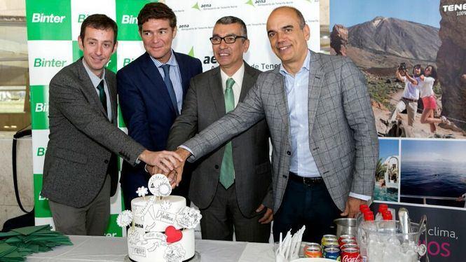 Binter inaugura su primera ruta nacional que conecta Canarias con Mallorca