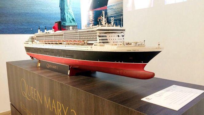 Exposición del mítico crucero Queen Mary 2 en Madrid