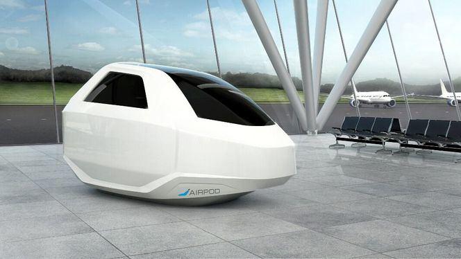 AirPod, cápsula de descanso y entretenimiento para aeropuertos