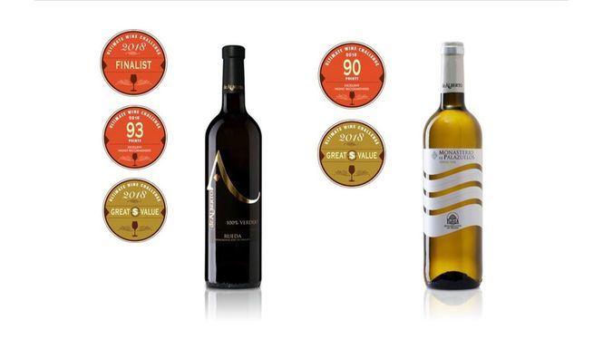 De Alberto Verdejo y Monasterio de Palazuelos Verdejo premiados en Ultimate Wine Challenge
