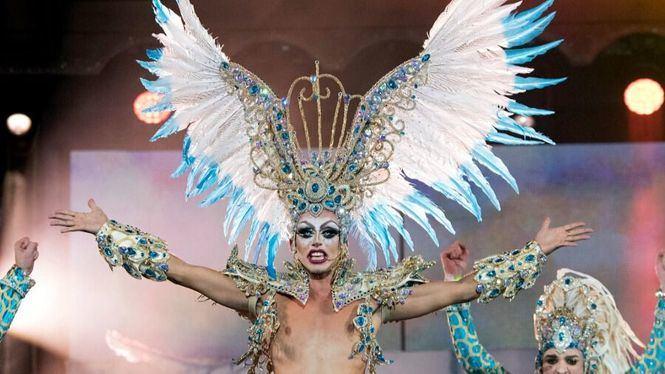 La Gala Drag del Carnaval de Las Palmas de Gran Canaria en el Orgullo 2018 de Madrid