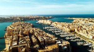 Vista aérea de tres ciudades, Malta
