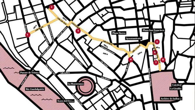 La calle Hernando Colón en Sevilla, centro neurálgico de la gastronomía local