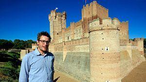 Jose Maria Magro en el castillo de la Mota