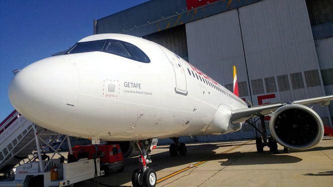 Getafe, cuna de la aviación española, nombre del nuevo Airbus de Iberia