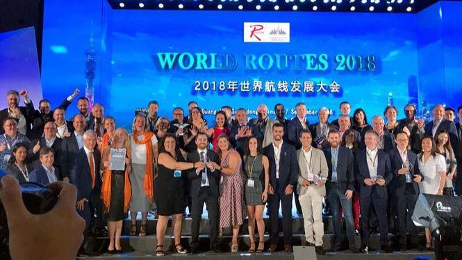 Canarias premio al mejor destino mundial en captación de rutas World Routes 2018