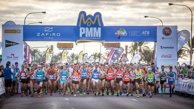 La capital balear se llena de corredores en una nueva edición del Palma Marathon
