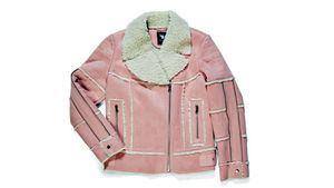 Laura Bernal . Chaqueta biker rosa con borrego - 282,50€