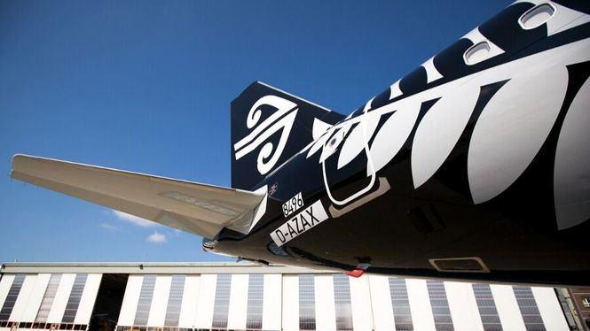Los nuevos aviones A321neo de Air New Zealand despegan