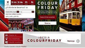 Iberia llena de color el Black Friday con precios únicos para todos los destinos